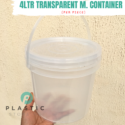 4LTR Transparent M. Container (per piece)