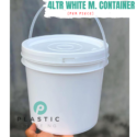 4LTR White M. Container (per piece)