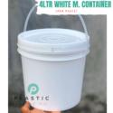 4LTR White M. Container (per piece)