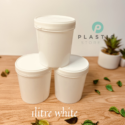 1LTR White M. Container (per piece)