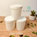 1LTR Supreme white Container (per dozen)