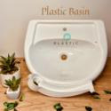 Plastic wash hand basin