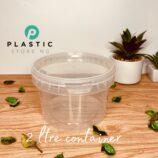 2LTR Almond Transparent Container (per dozen)