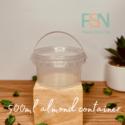 500ml Almond Transparent Container (per dozen)