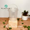 1LTR Almond Transparent Container ( per dozen )