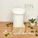 1LTR Almond White Container (per dozen)