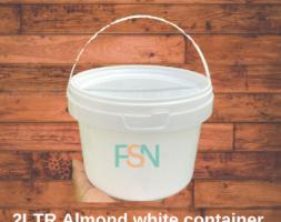 2LTR Almond White Container (per dozen )